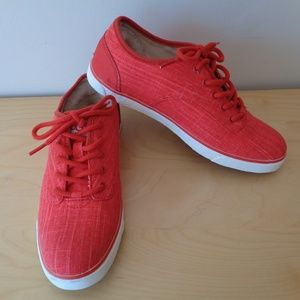 UGG Australia Hally Lace Up Sneakers Red Canvas